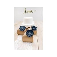 thumb-Papieren lotus bloem blauw (3 stuks)-3