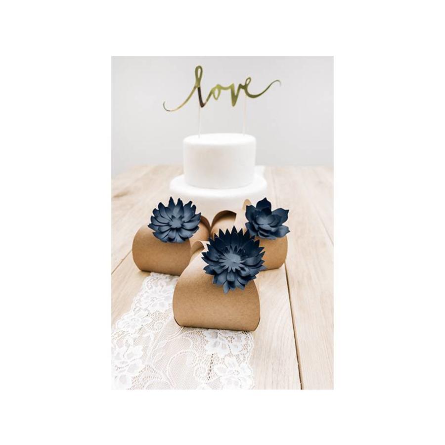 Papieren lotus bloem blauw (3 stuks)-3