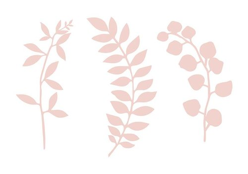 Papieren blaadjes roze (9 stuks)