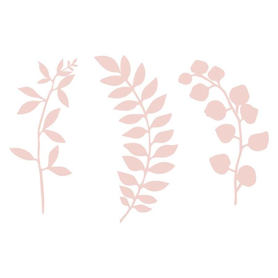 Papieren blaadjes roze (9 stuks)-1
