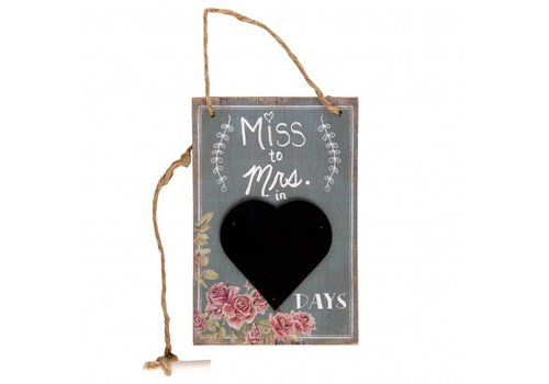 Tableau noir miss to mrs in days