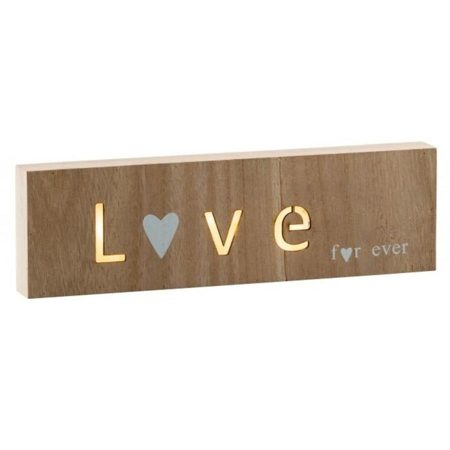 Love led lamp hout-1