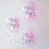thumb-Confetti ballonen miss to mrs (5 stuks)-2