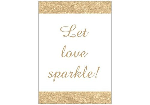 Kaartje A6 Let love sparkle (10 stuks)