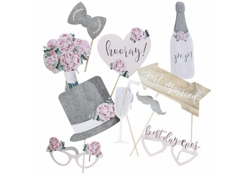 Photo props wedding (10 stuks)