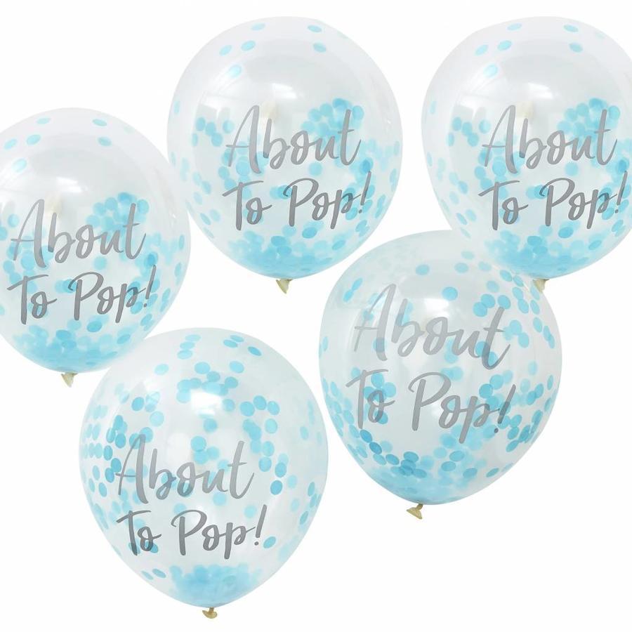 Ballons About to pop bleu (10 pièces)-1