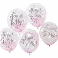 thumb-Ballonen About to pop roze (10 stuks)-1