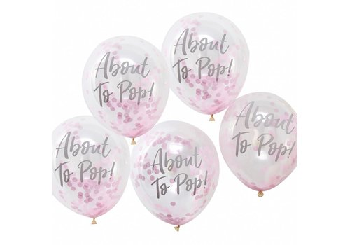 Ballon confetti About to pop rose (5 pcs)