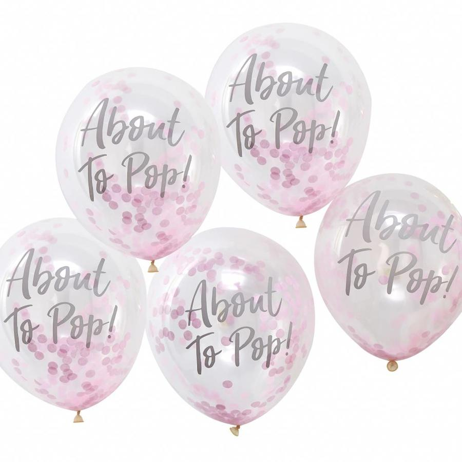 Ballonen About to pop roze (10 stuks)-1