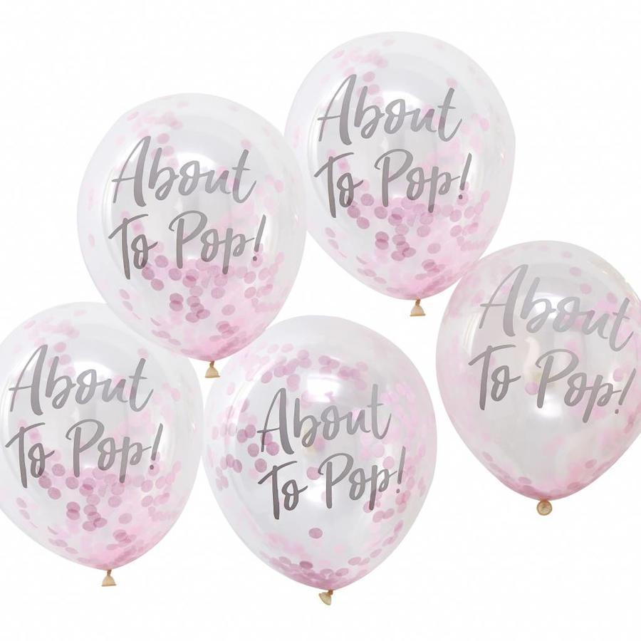 Ballonen About to pop roze (5 stuks)-1