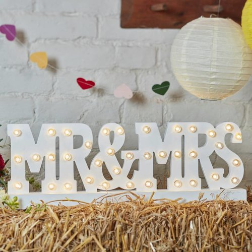 Mr & Mrs décoration