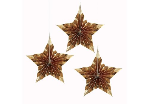 Ster goud (3 stuks)