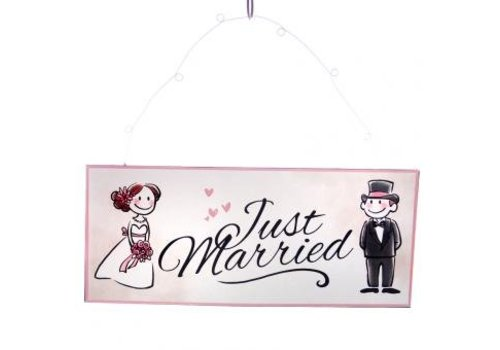 Panneau Just Married