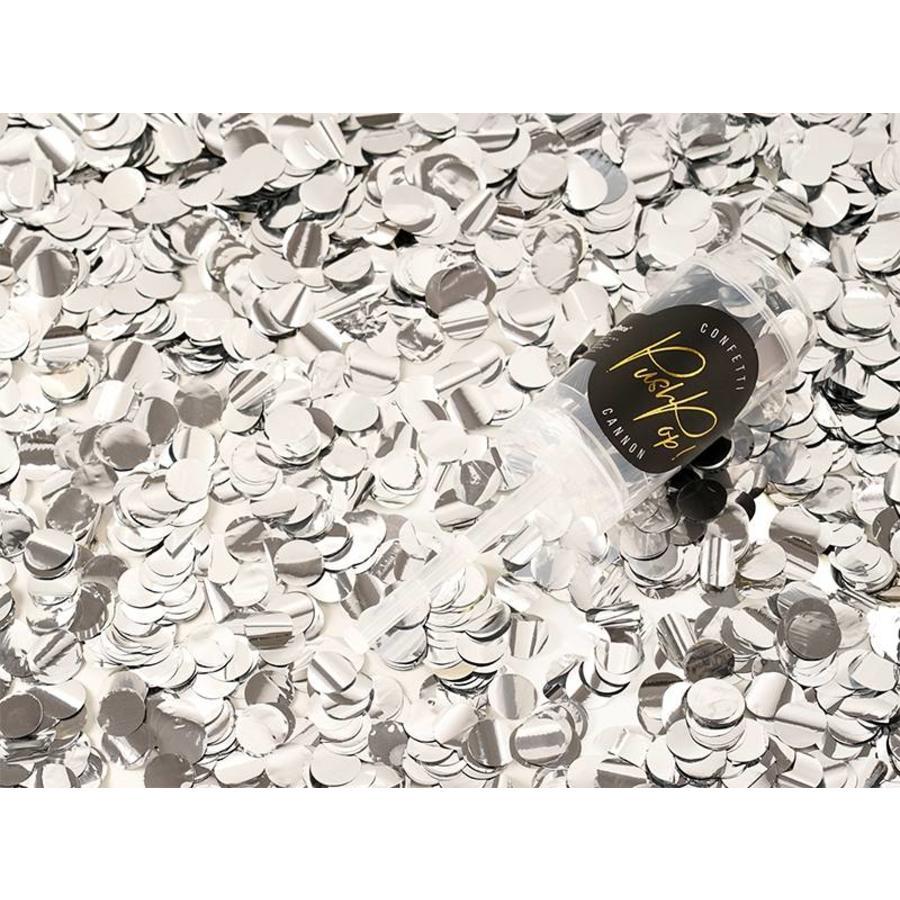Confetti popper zilver-3