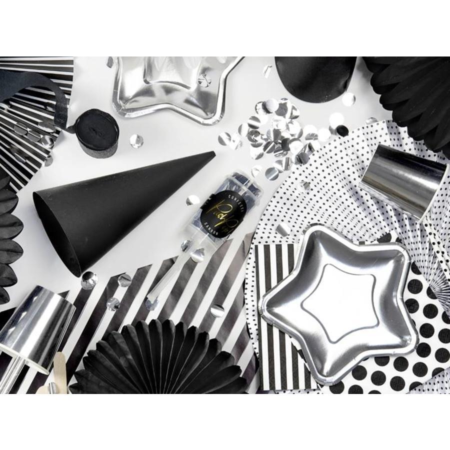 Confetti popper zilver-4