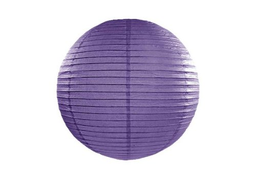 Lampion violet diamètre 45
