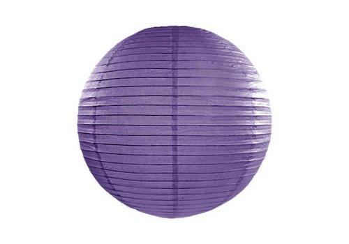 Lampion violet diamètre 35