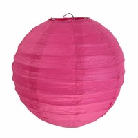 thumb-Lampion fuchsia  diameter 50 cm-1