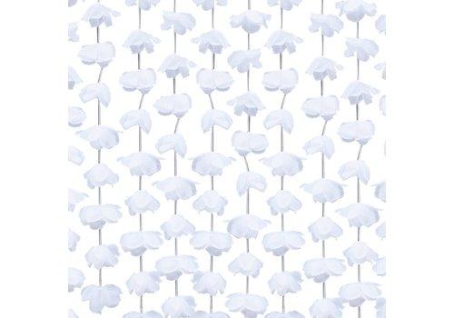 Backdrop wit bloemetjes