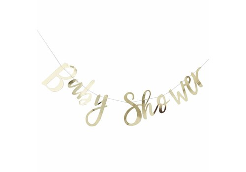 Guirlande Baby Shower doré métallisé