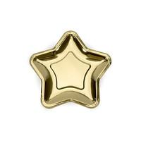 thumb-Gebaksbordje goud ster (6 stuks)-1