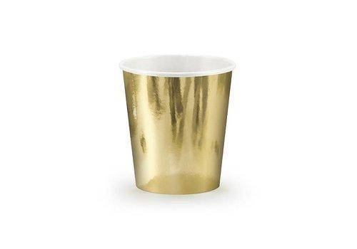 Bekertje goud (6 stuks)