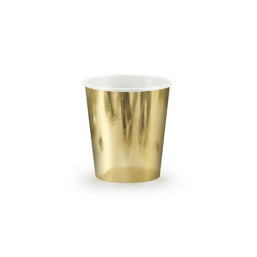 Bekertje goud (6 stuks)-1