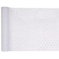 thumb-Chemin de table a pois blanc (5 metres)-1