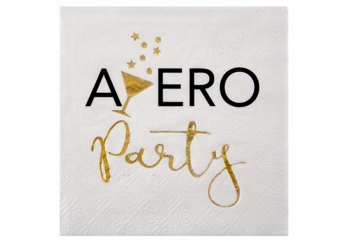 Servet Apero party goud (20 st.)