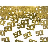 Tafelconfetti goud 50