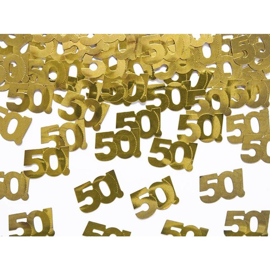 Confettis de table or 50-1
