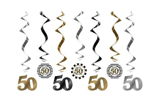 Suspensions 50 Ans or (7 pcs)