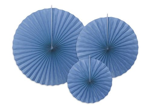 Papieren waaiers lila (3 stuks)