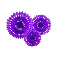 thumb-Papieren tissue waaiers violet (3 stuks)-1