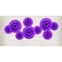 thumb-Papieren tissue waaiers violet (3 stuks)-2