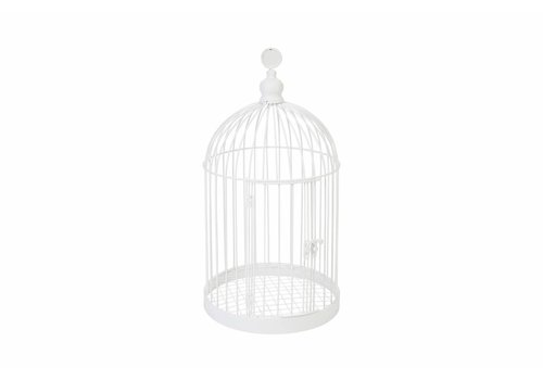 Tirelire cage blanc