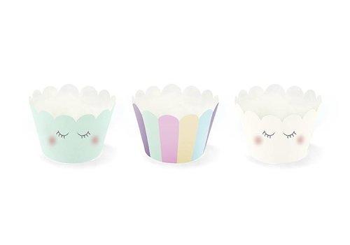 Cupcake wraps unicorn (6 stuks)