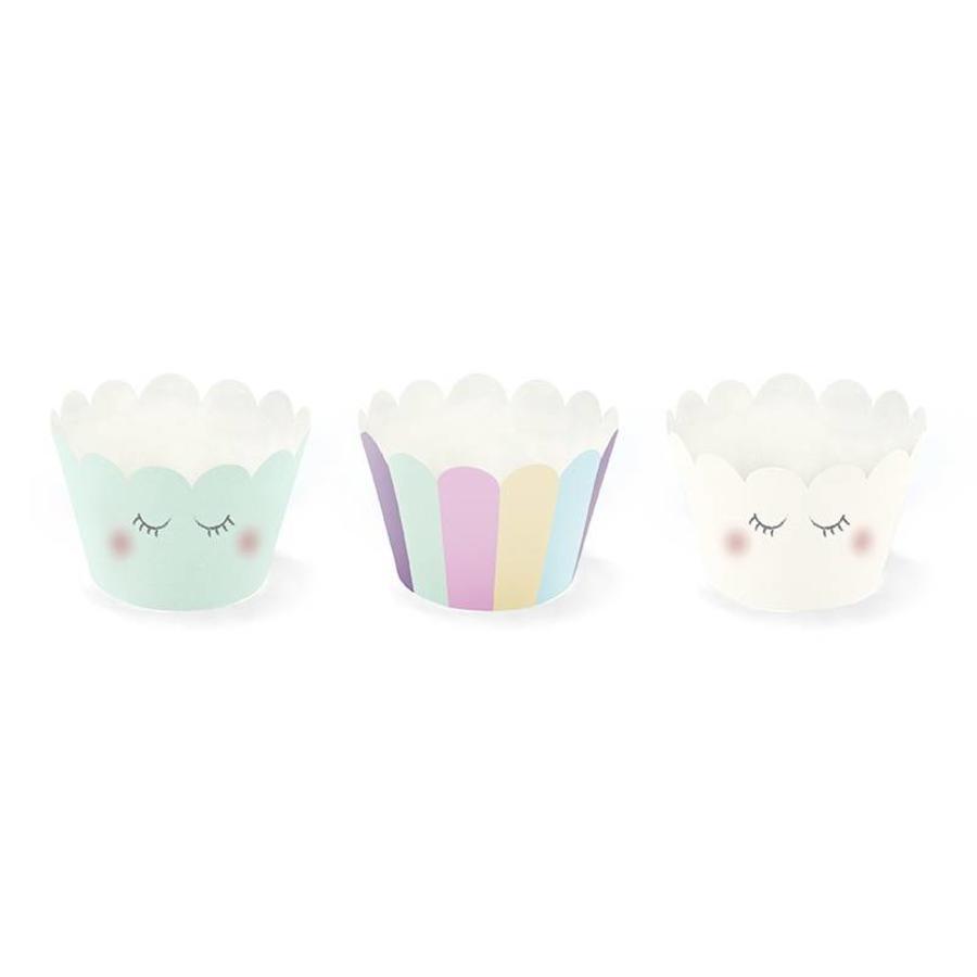 Cupcake wraps unicorn (6 stuks)-1