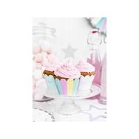thumb-Moules à cupcakes en papier Licorne (6 pcs)-3