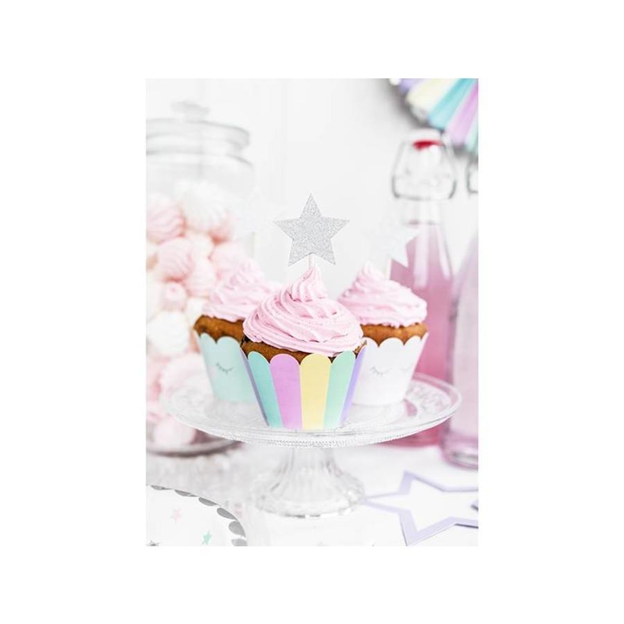 Cupcake wraps unicorn (6 stuks)-3