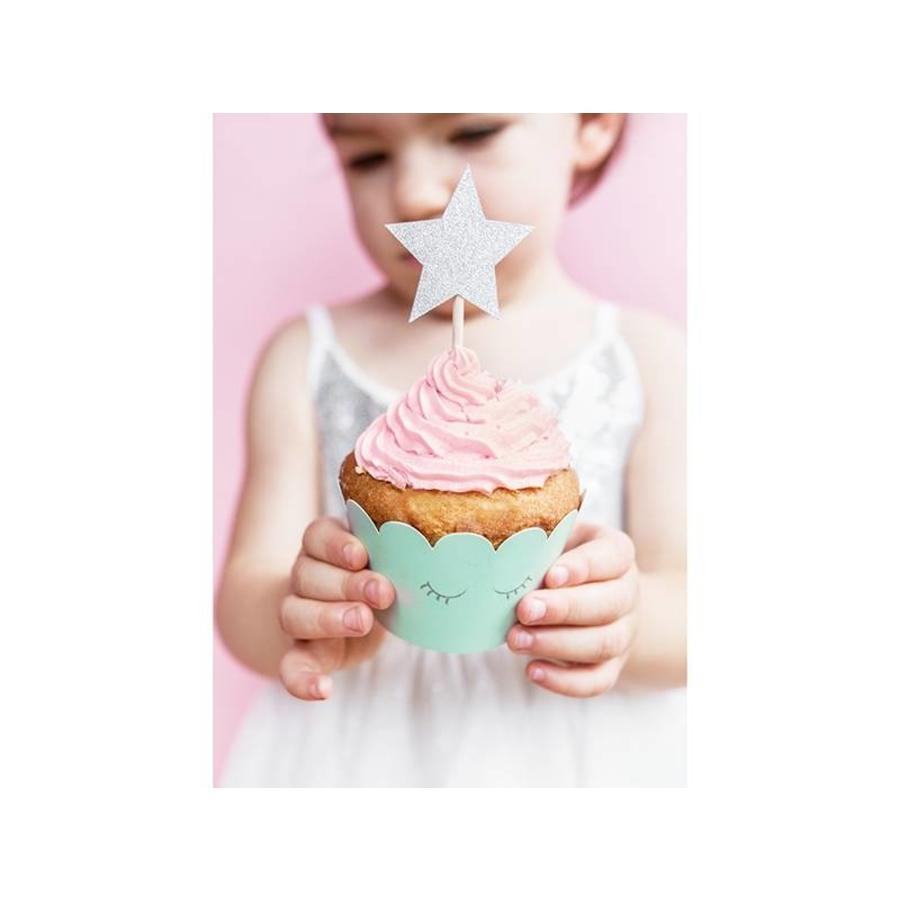 Cupcake wraps unicorn (6 stuks)-4