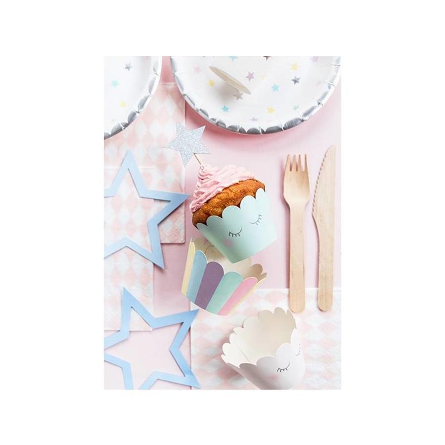 Cupcake wraps unicorn (6 stuks)-5