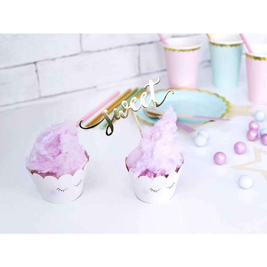 Cupcake wraps unicorn (6 stuks)-7