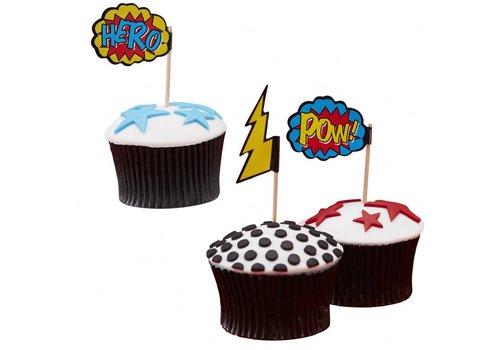 Pics à gâteaux super hero (20 pcs)