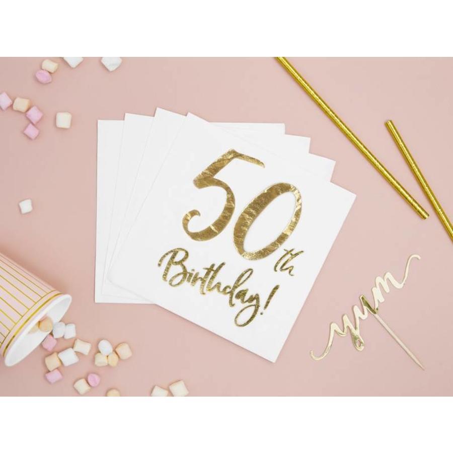 Serviettes en papier 50 ans or (20 pcs)-2