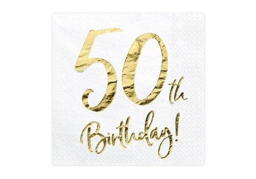Servet 50e verjaardag goud (20 st.)