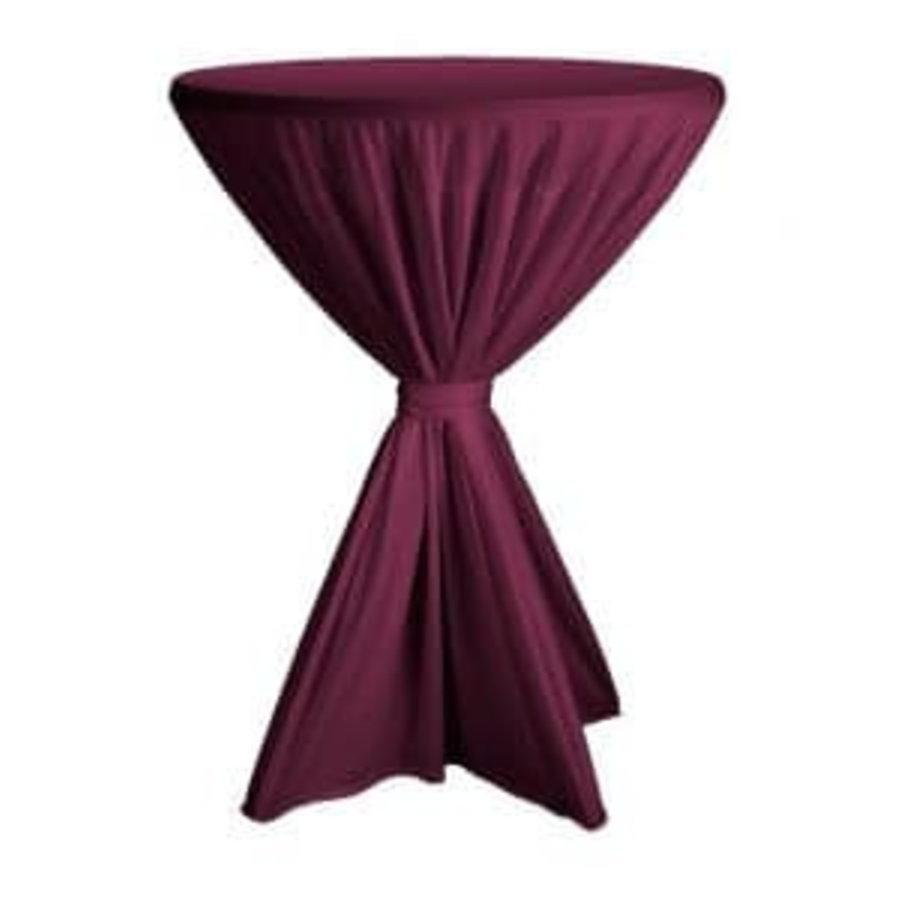 Nappe bordeaux pour table haute (location)-1