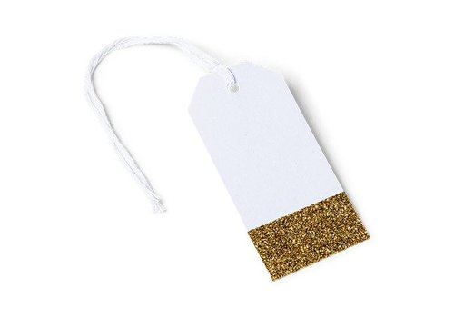 Tags etincelants papier blancs 8 pcs