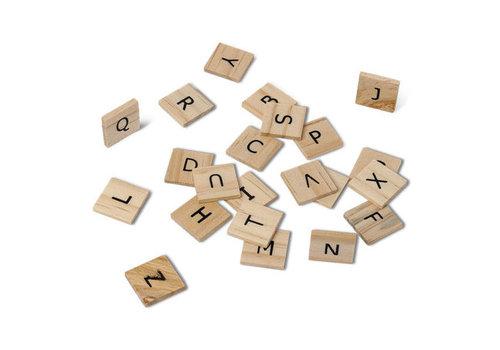 Lettre alphabet facon scrabble 2x2 cm