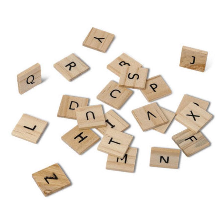 Lettre alphabet facon scrabble 2x2 cm-1